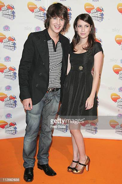 Devon Werkheiser and Emma Roberts at the Nickelodeon Kids' Choice Awards on October 20 2007 in London England