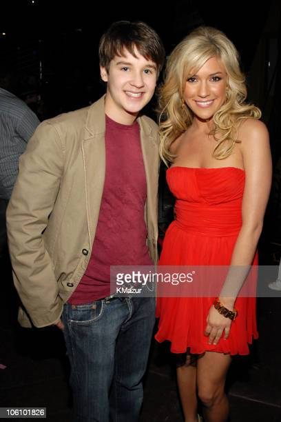 Devon Werkheiser and Kristin Cavallari during Nickelodeon's 19th Annual Kids' Choice Awards Backstage and Audience at Pauley Pavilion in Westwood...