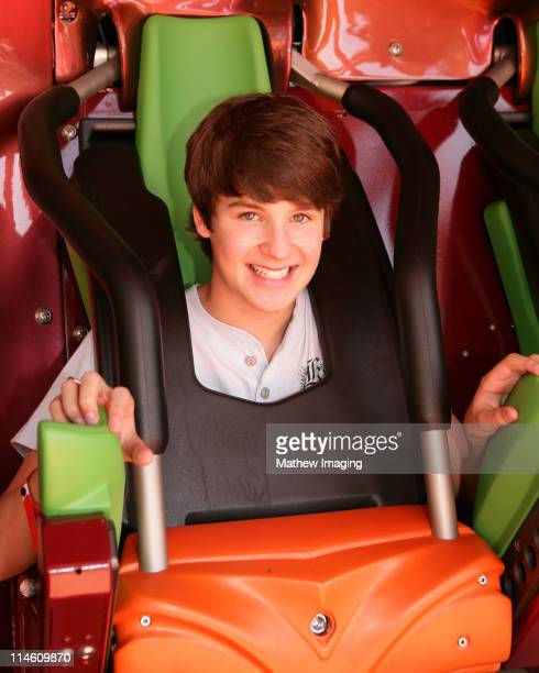 Devon Werkheiser during Celebrity Kids on 'Tatsu' at Six Flags Magic Mountain May 11 2006 at Six Flags Magic Mountain in Valencia California United...