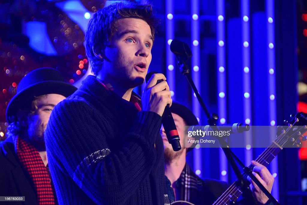 Devon Werkheiser performs at the 2012 Hollywood Christmas Parade Concert at Universal CityWalk on November 20, 2012 in Universal City, California.