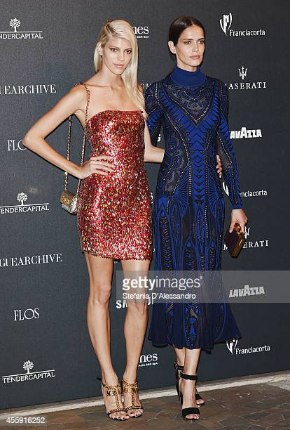 Devon Windsor and Amanda Wellsh attend Vogue Italia 50th Anniversary Event on September 21 2014 in Milan Italy