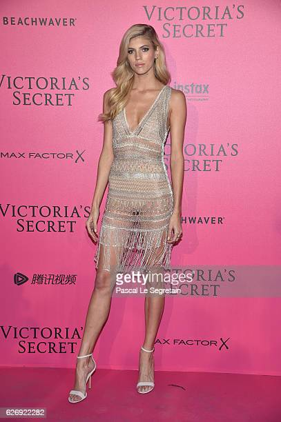 Devon Windsor attends the 2016 Victoria's Secret Fashion Show after party on November 30 2016 in Paris France