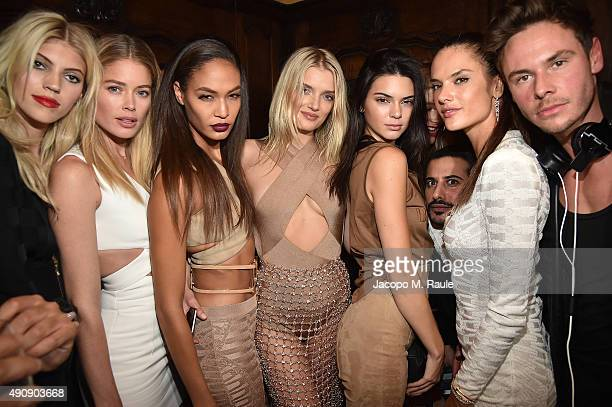 Devon Windsor Doutzen Kroes Joan Smalls Lily Donaldson Kendall Jenner Mohamed Sultan Alessandra Ambrosio and Cedric Marian Alexander attend Balmain...