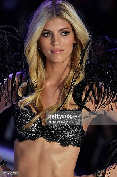 Devon Windsor walks the runway during the 2016 Victoria's Secret Fashion Show on November 30 2016 in Paris France