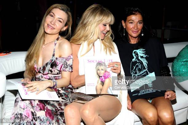 Devorah Rose Christie Brinkley and Claire Mercuri attend the 6th Annual St Barth Hamptons Gala at Bridgehampton Historical Museum on July 22 2017 in...