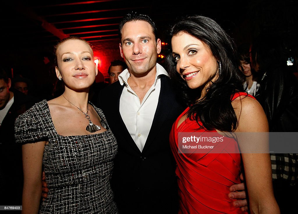 Devorah Rose, guest and Bethenny Frankel attend the Belvedere IX Launch Party at The Bowery Hotel on February 12, 2009 in New York City.