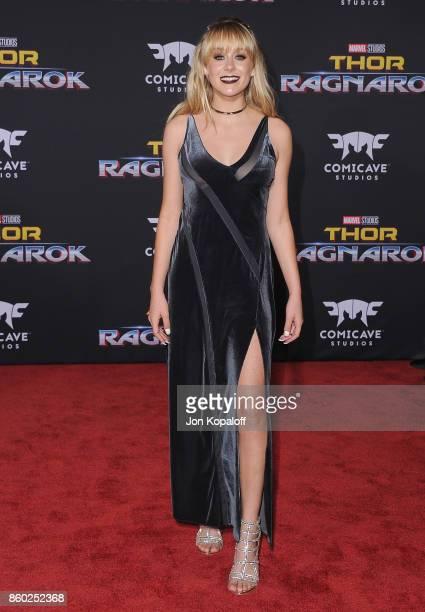 DeVore Ledridge arrives at the Los Angeles Premiere 'Thor Ragnarok' on October 10 2017 in Hollywood California