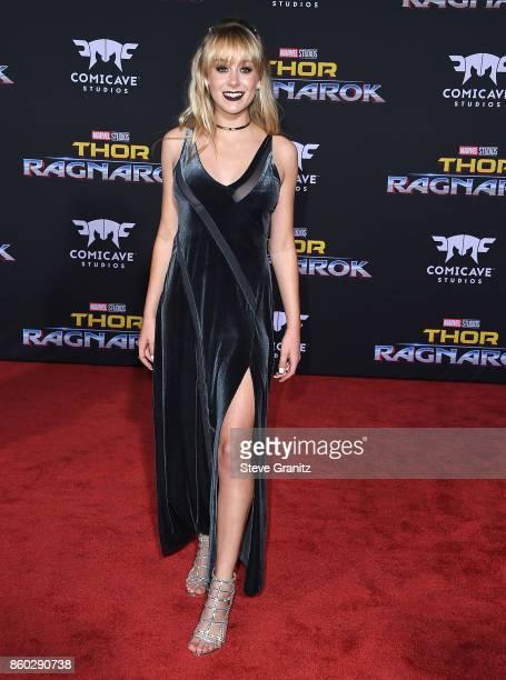 DeVore Ledridge arrives at the Premiere Of Disney And Marvel's 'Thor Ragnarok' on October 10 2017 in Los Angeles California