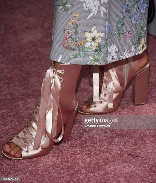 DeVore Ledridge shoe detail attends the 5th Annual Beautycon Festival Los Angeles at the Los Angeles Convention Center on August 12 2017 in Los...