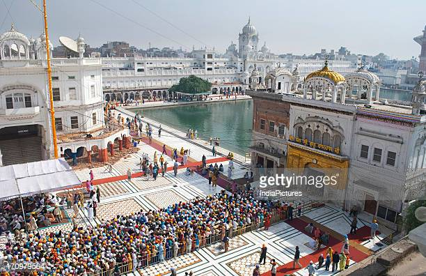 Devotees at Golden temple Amritsar Punjab India