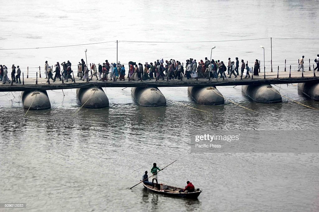 Devotees gather to offer prayer in river Ganges on the occasion of 'Mauni Amavasya' or bath festival during the one month long Magh Mela festival.