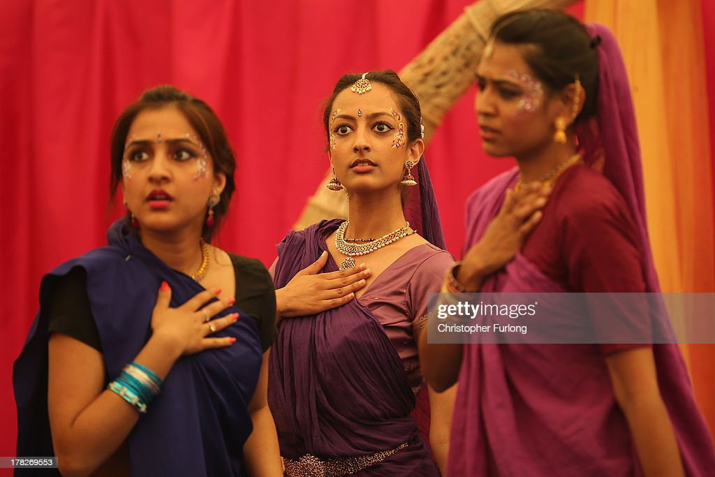 Devotees take part in a dance display during the Janmashtami Hindu Festival at Bhaktivedanta Manor on August 28, 2013 in Watford, England. Up to 72,000 were expected to take part in the Hindu festival of 'Janmashtami', which falls on August 28 this year, and marks the birth of the Hindu god Lord Krishna. The festival is believed to be the largest Hindu festival gathering outside of India. Bhaktivedanta Manor is also celebrating it's 40th year since the manor house was donated to the Society of Krishna Consciousness by George Harrison in 1973.