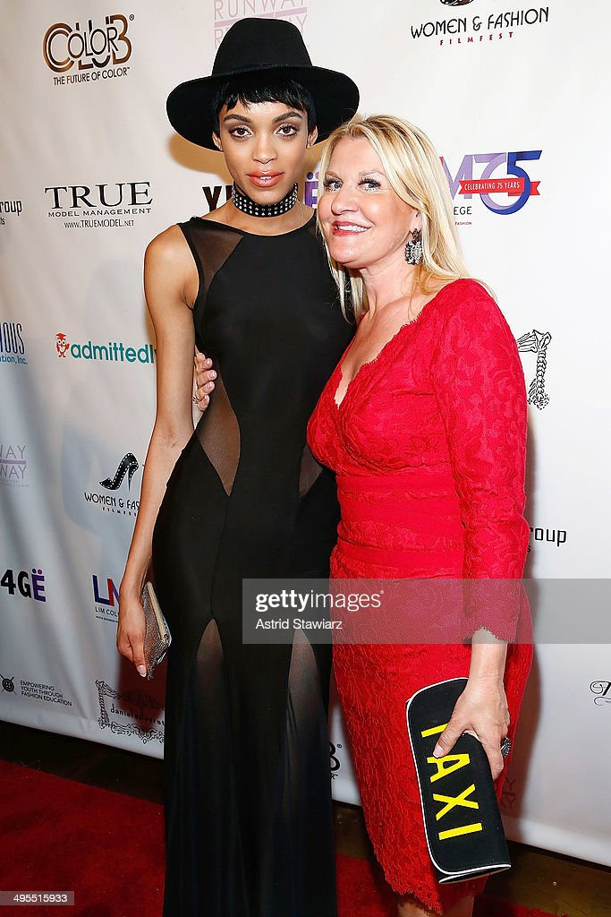 Devyn Abdullah and Jacqui Stafford attend the 2nd Annual Women & Fashion FilmFest Red Carpet Opening at Gold Bar on June 3, 2014 in New York City.