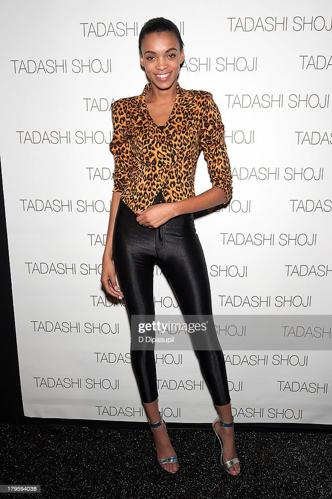 Devyn Abdullah attends the Tadashi Shoji Spring 2014 fashion show at The Stage Lincoln Center on September 5, 2013 in New York City.