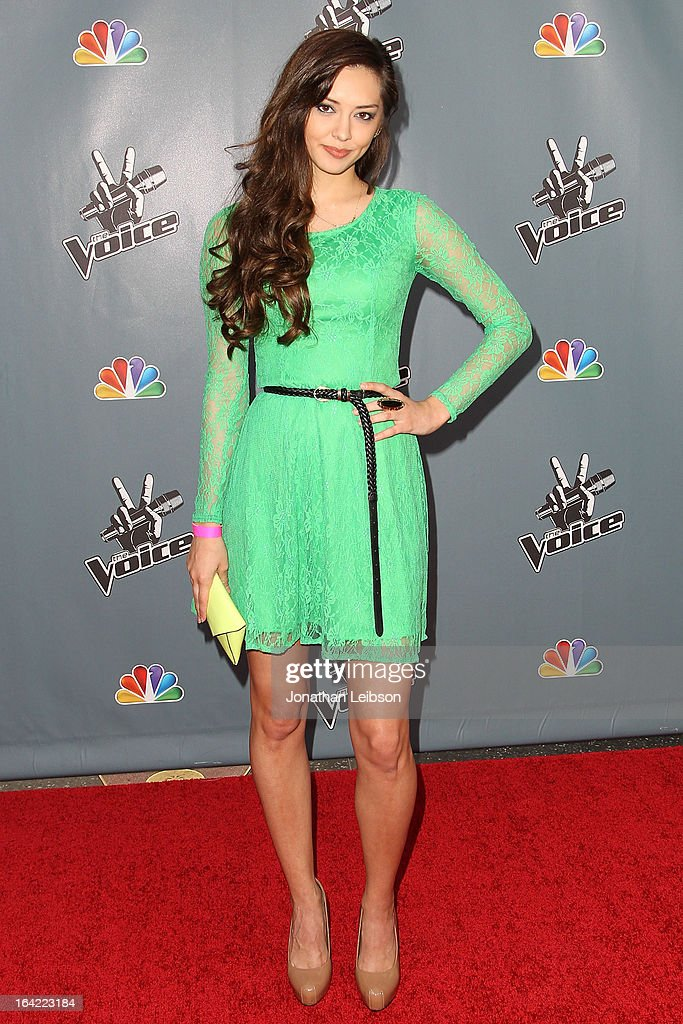 Devyn DeLoera attends the NBC's 'The Voice' Season 4 Premiere at TCL Chinese Theatre on March 20, 2013 in Hollywood, California.