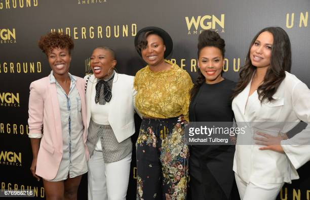 Dewanda Wise Aisha Hinds Misha Green Amirah Vann and Jurnee SmollettBell attend a For Your Consideration event for WGN America's 'Underground' at The...