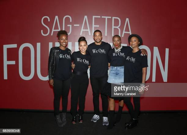 DeWanda Wise Amirah Vann Alano Miller Aisha Hinds and Misha Green attend SAGAFTA Foundation Coversations with Aisha Hinds Alano Miller Amirah Vann...