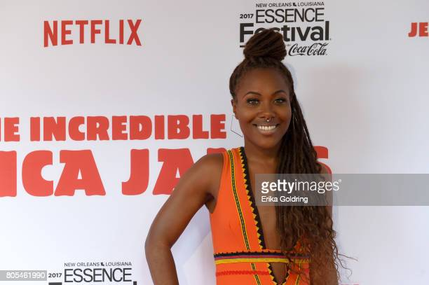 DeWanda Wise attends the Premiere Of Netflix Original Film 'The Incredible Jessica James' At The 2017 Essence Festival on July 1 2017 in New Orleans...