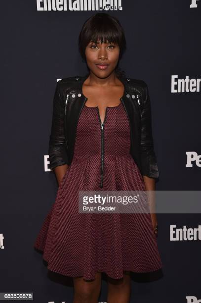 DeWanda Wise of Underground attends the Entertainment Weekly and PEOPLE Upfronts party presented by Netflix and Terra Chips at Second Floor on May 15...