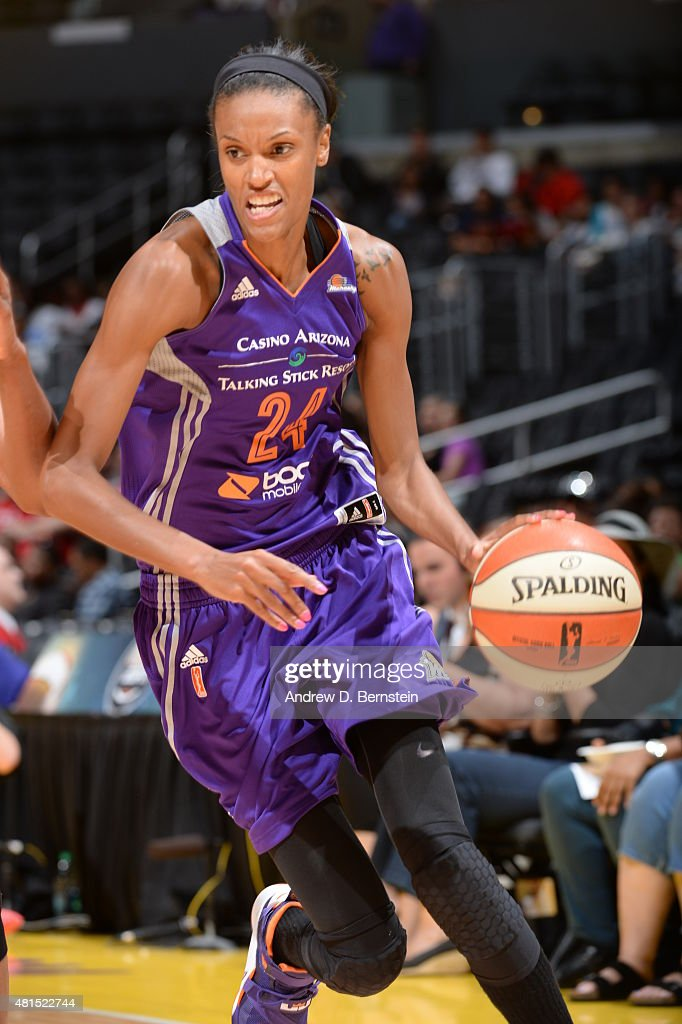 <a gi-track='captionPersonalityLinkClicked' href=/galleries/search?phrase=DeWanna+Bonner&family=editorial&specificpeople=4085058 ng-click='$event.stopPropagation()'>DeWanna Bonner</a> #24 of the Phoenix Mercury drives to the basket against the Los Angeles Sparks on July 21, 2015 at Staples Center in Los Angeles, California.