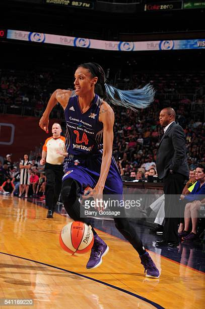 DeWanna Bonner of the Phoenix Mercury handles the ball against the Dallas Wings on June 18 2016 at Talking Stick Resort Arena in Phoenix Arizona NOTE...
