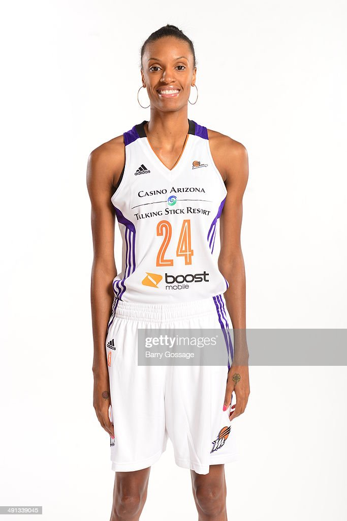 <a gi-track='captionPersonalityLinkClicked' href=/galleries/search?phrase=DeWanna+Bonner&family=editorial&specificpeople=4085058 ng-click='$event.stopPropagation()'>DeWanna Bonner</a> #24 of the Phoenix Mercury poses for a photo during the Phoenix Mercury Media Day on May 13, 2014 at US Airways Center in Phoenix, Arizona.