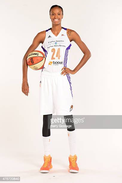 DeWanna Bonner of the Phoenix Mercury poses for photos during the Phoenix Mercury Media Day on June 1 2015 in Phoenix Arizona NOTE TO USER User...