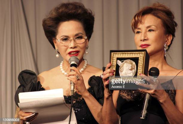 Dewi Sukarno and Japanese personality Carrousel Maki present a Cameo Jewellery piece for auction at the Imperial Byzantine Charity Ball and Gala...