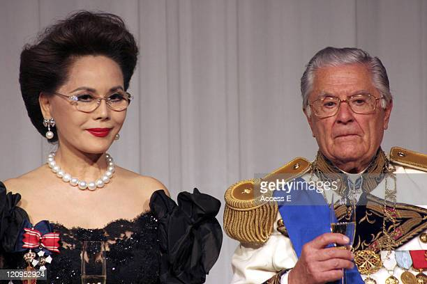 Dewi Sukarno and Prince Henri Constantine Paleologo