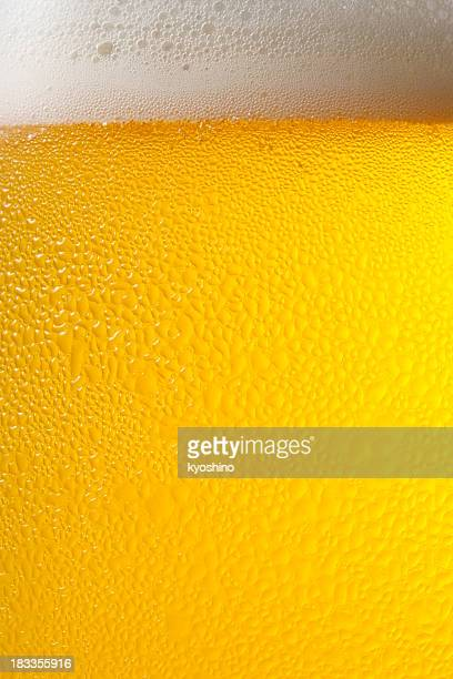 Dewy beer glass texture background