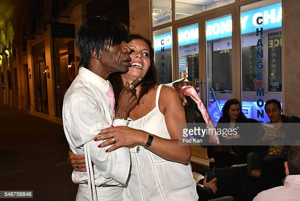 Dexter Dex Tao and Chacha Meissner attend the Dexter Dex Tao Birthday Party at the Xu Sushis bar on July 12 2016 in Paris France