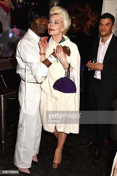Dexter Dex Tao and Rodica Paleologue attend the Dexter Dex Tao Birthday Party at the Xu Sushis bar on July 12 2016 in Paris France
