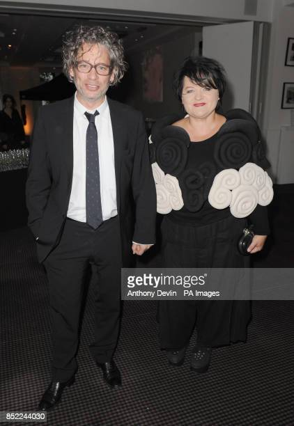 Dexter Fletcher and Dalia Ibelhauptaite arriving at the Sunshine on Leith film VIP screening at BAFTA in Piccadilly in London