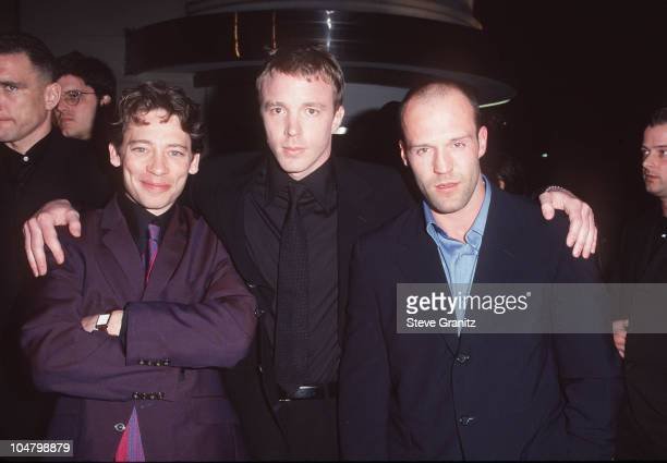 Dexter Fletcher Guy Ritchie Jason Statham during Lock Stock Two Smoking Barrels Premiere at Sony Studios in Culver City California United States