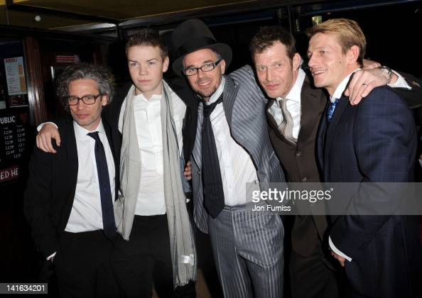 Dexter Fletcher Will Poulter Chalie CreedMiles Jason Flemyng and Leo Gregory attend the premiere of Wild Bill at Cineworld Haymarket on March 20 2012...