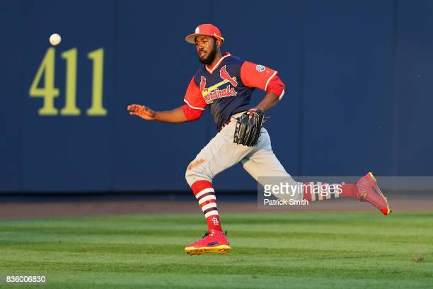 Dexter Fowler of the St Louis Cardinals chases down a hit against the Pittsburgh Pirates during the first inning in the inaugural MLB Little League...
