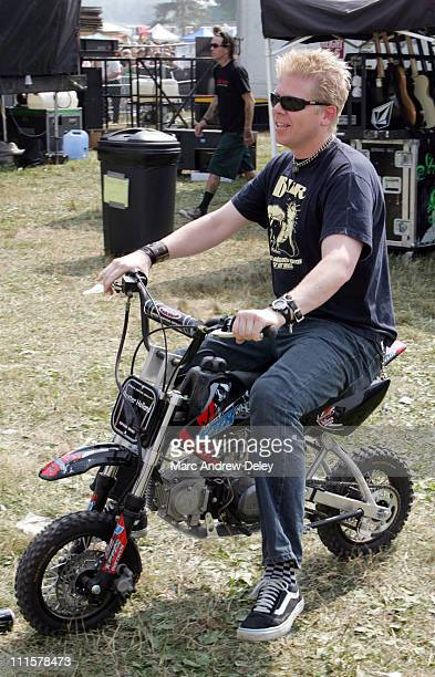 Dexter Holland of The Offspring during 2005 Vans Warped Tour Darien Center Backstage at Darien Lake PAC in Darien Center New York United States