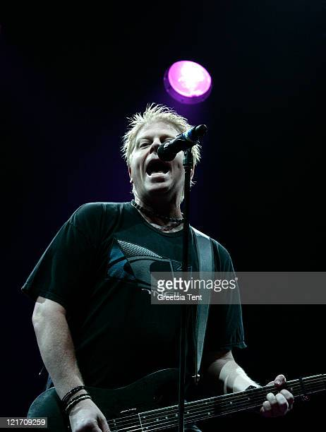 Dexter Holland of The Offspring performs on day three of Lowlands Festival on August 21 2011 in Biddinghuizen Netherlands