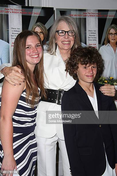 Dexter Keaton Diane Keaton and Duke Keaton attend the 'And So It Goes' premiere at Guild Hall on July 6 2014 in East Hampton New York
