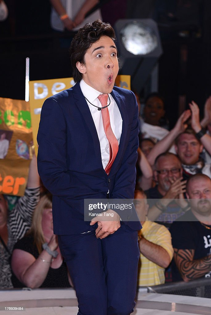 Dexter Koh gets evicted from the Big Brother house at Elstree Studios on August 19, 2013 in Borehamwood, England.