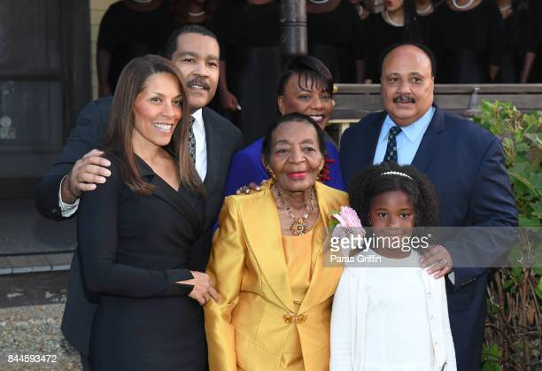 Dexter Scott King Bernice King Martin Luther King III Christine King Farris and Yolanda Renee King at Dr Christine King Farris 90th Birthday...