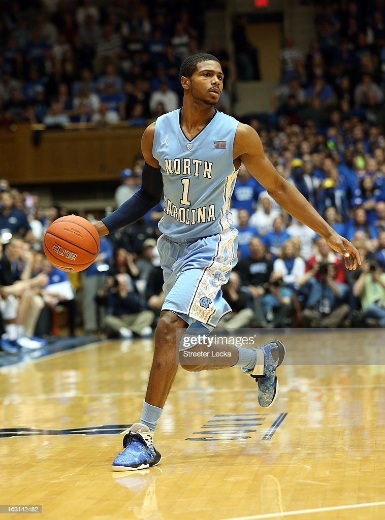 <a gi-track='captionPersonalityLinkClicked' href=/galleries/search?phrase=Dexter+Strickland&family=editorial&specificpeople=5792010 ng-click='$event.stopPropagation()'>Dexter Strickland</a> #1 of the North Carolina Tar Heels during their game at Cameron Indoor Stadium on February 13, 2013 in Durham, North Carolina.