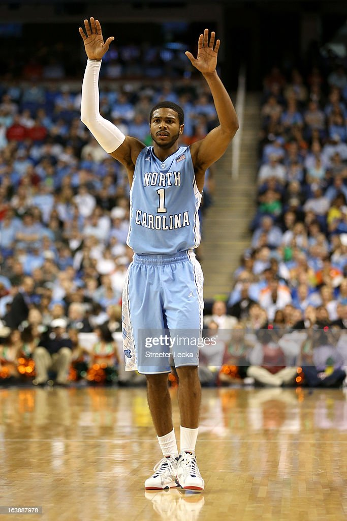 <a gi-track='captionPersonalityLinkClicked' href=/galleries/search?phrase=Dexter+Strickland&family=editorial&specificpeople=5792010 ng-click='$event.stopPropagation()'>Dexter Strickland</a> #1 of the North Carolina Tar Heels reacts against the Miami (Fl) Hurricanes during the final of the Men's ACC Basketball Tournament at Greensboro Coliseum on March 17, 2013 in Greensboro, North Carolina.