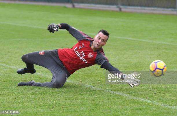 Deyan Iliev of Arsenal during a training session at London Colney on November 14 2017 in St Albans England
