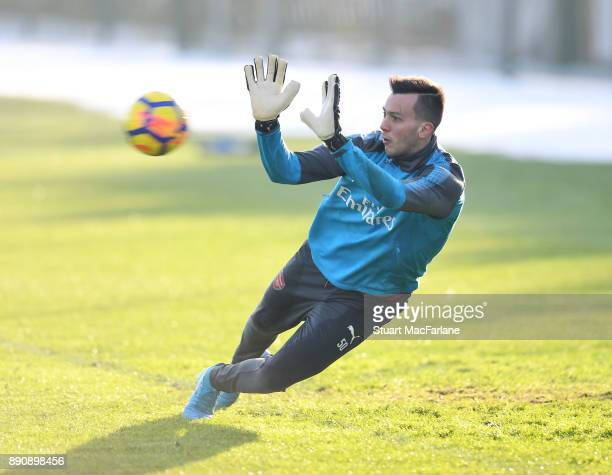 Deyan Iliev of Arsenal during a training session at London Colney on December 12 2017 in St Albans England