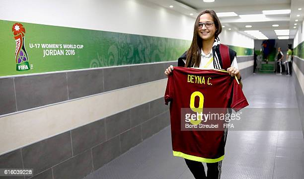 Deyna Castellanos of Venezuela is pictured in the players tunnel prior to the FIFA U17 Women's World Cup Third Place Play Off match between Venezuela...