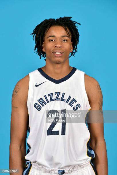 Deyonta Davis of the Memphis Grizzlies poses for a head shot during Media Day on September 25 2017 at FedExForum in Memphis Tennessee NOTE TO USER...