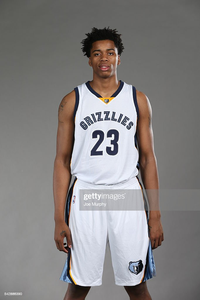 Deyonta Davis #23 of the Memphis Grizzlies poses for a portrait on June 24, 2016 at FedExForum in Memphis, Tennessee.