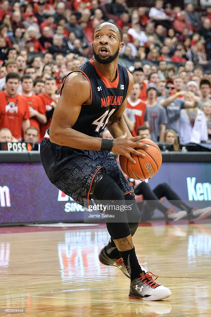 Dez Wells of the Maryland Terrapins controls the ball against the Ohio State Buckeyes on January 29 2015 at Value City Arena in Columbus Ohio