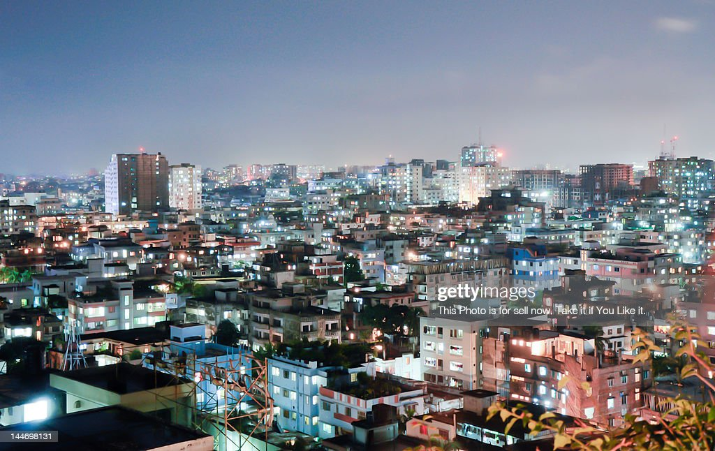 Dhaka at night